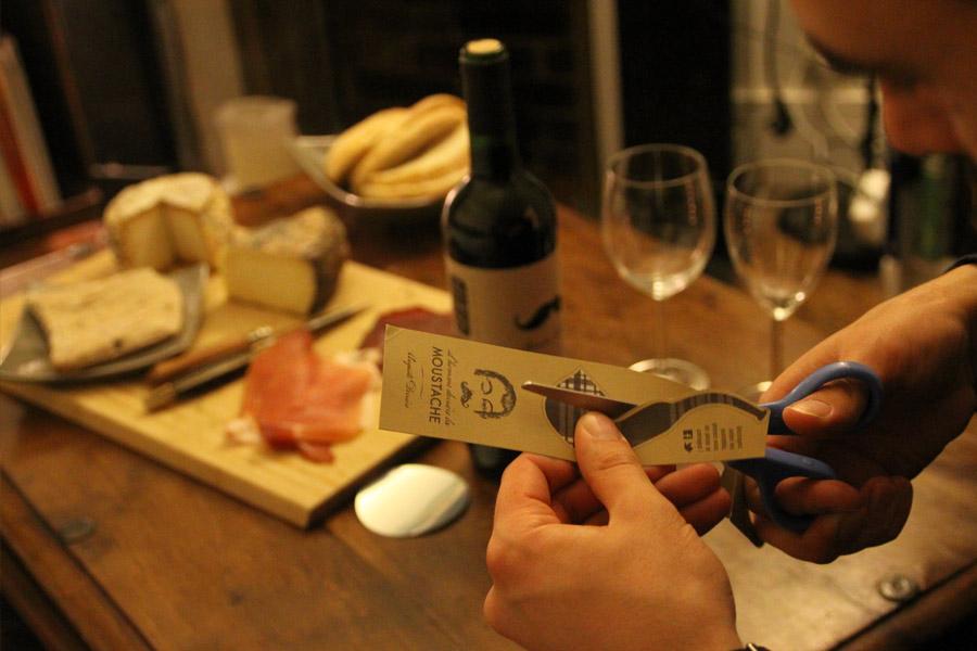 Etiquette du vin Monsieur Moustache