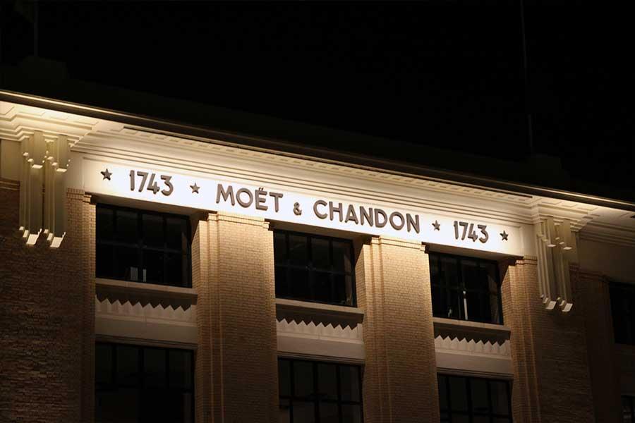 La maison Moet & Chandon sur l'avenue de Champagne