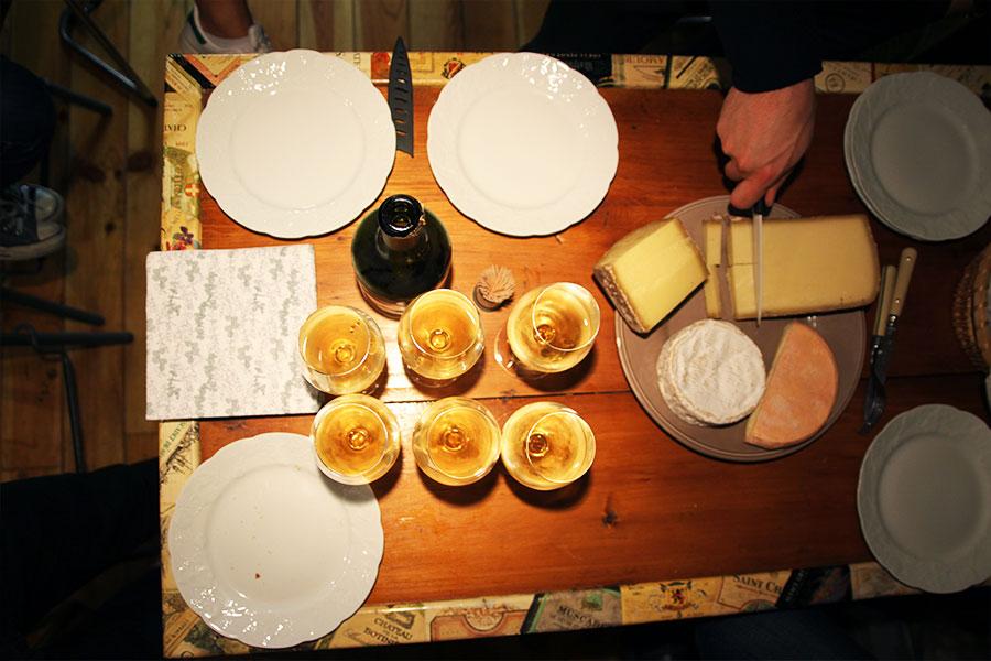 Vin jaune avec fromage
