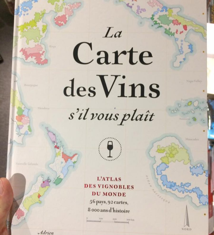 L'atlas des vignobles du monde, 56 pays, 92 cartes ! Superbe livre !  25€ à la FNAC