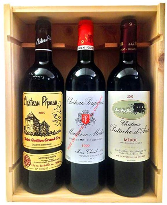 coffret vin bordeaux grands crus